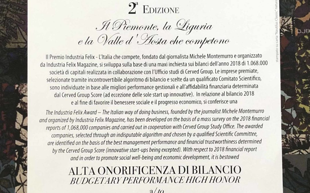 A DOCKS LANTERNA IL PREMIO INDUSTRIA FELIX 2020